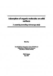 Adsorption of organic molecules on solid surfaces