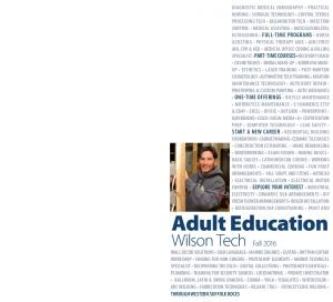 Adult Education. Wilson Tech Fall 2016