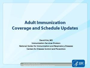 Adult Immunization Coverage and Schedule Updates