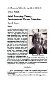 Adult Learning Theory: Evolution and Future Directions
