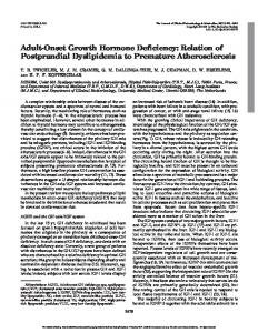Adult-Onset Growth Hormone Deficiency: Relation of Postprandial Dyslipidemia to Premature Atherosclerosis