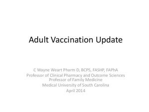 Adult Vaccination Update