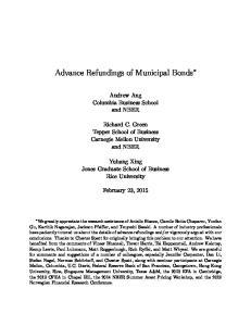 Advance Refundings of Municipal Bonds