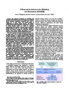 ADvanced Architecture for Modeling and Simulation (ADAMS)