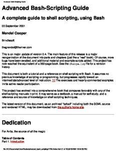 Advanced Bash-Scripting Guide