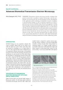 Advanced Biomedical Transmission Electron Microscopy