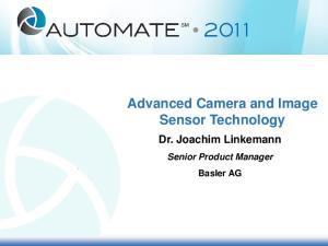 Advanced Camera and Image Sensor Technology