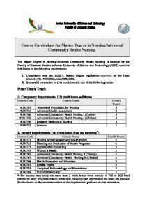 Advanced Community Health Nursing