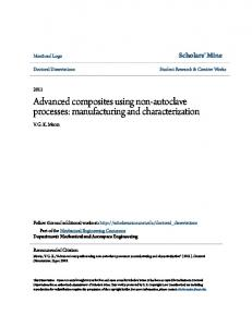 Advanced composites using non-autoclave processes: manufacturing and characterization