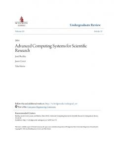 Advanced Computing Systems for Scientific Research