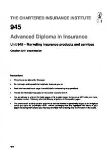 Advanced Diploma in Insurance