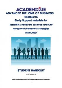 ADVANCED DIPLOMA OF BUSINESS BSB60215
