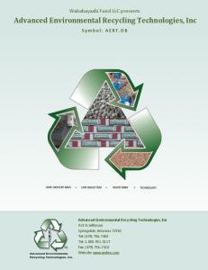 Advanced Environmental Recycling Technologies, Inc