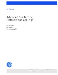 Advanced Gas Turbine Materials and Coatings