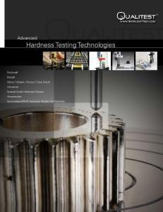 Advanced Hardness Testing Technologies
