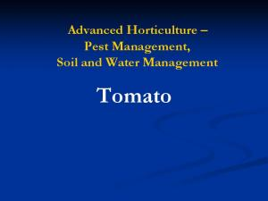 Advanced Horticulture Pest Management, Soil and Water Management. Tomato