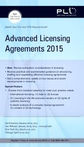 Advanced Licensing Agreements 2015