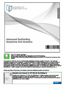 Advanced Scaffolding Questions And Answers