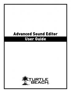 Advanced Sound Editor User Guide