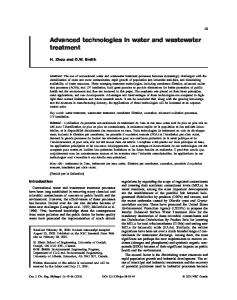 Advanced technologies in water and wastewater treatment
