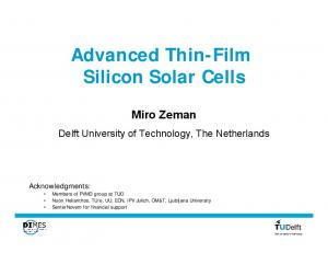 Advanced Thin-Film Silicon Solar Cells