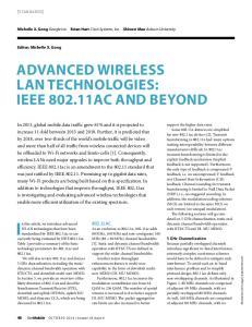 ADVANCED WIRELESS LAN TECHNOLOGIES: IEEE AC AND BEYOND