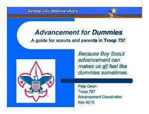 Advancement for Dummies