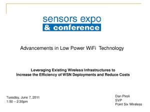 Advancements in Low Power WiFi Technology