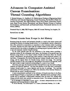 Advances in Computer-Assisted Canvas Examination: Thread Counting Algorithms