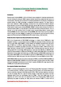 Advances in Computer Random Access Memory Himadri Barman