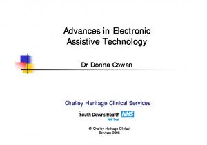 Advances in Electronic Assistive Technology