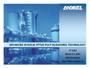ADVANCES IN EUCALYPTUS PULP BLEACHING TECHNOLOGY. 3 rd ICEP March 4-7, 2007 Belo Horizonte Olavi Pikka, Andritz Oy