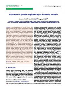 Advances in genetic engineering of domestic animals