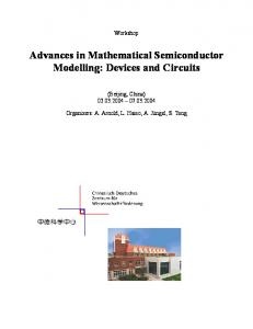 Advances in Mathematical Semiconductor Modelling: Devices and Circuits