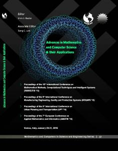 ADVANCES in MATHEMATICS and COMPUTER SCIENCE and THEIR APPLICATIONS