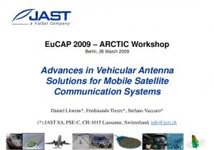 Advances in Vehicular Antenna. Communication Systems