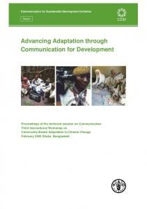 Advancing Adaptation through Communication for Development
