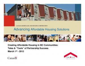 Advancing Affordable Housing Solutions