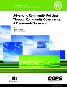 Advancing Community Policing Through Community Governance: A Framework Document