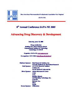 Advancing Drug Discovery & Development