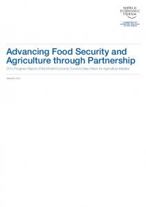 Advancing Food Security and Agriculture through Partnership