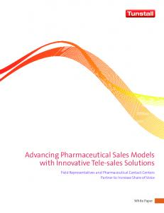 Advancing Pharmaceutical Sales Models with Innovative Tele-sales Solutions