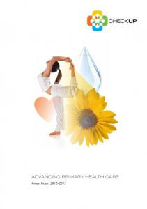 Advancing primary health care