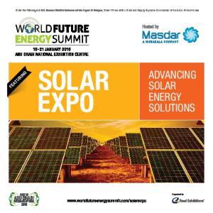 ADVANCING SOLAR ENERGY SOLUTIONS