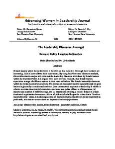Advancing Women in Leadership Journal