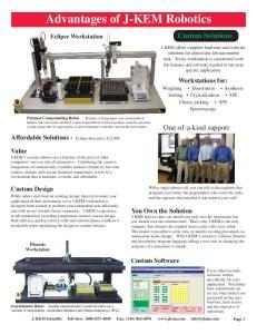 Advantages of J-KEM Robotics