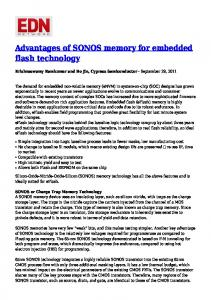 Advantages of SONOS memory for embedded flash technology