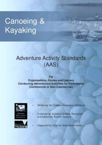 Adventure Activity Standards (AAS)