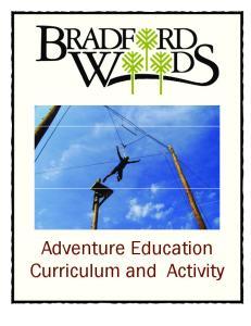 Adventure Education Curriculum and Activity