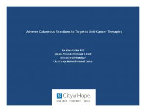 Adverse Cutaneous Reactions to Targeted Anti Cancer Therapies